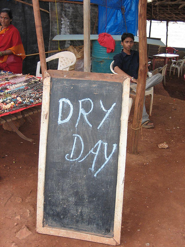 No beer today. Image courtesy of Flickr user gniliep.