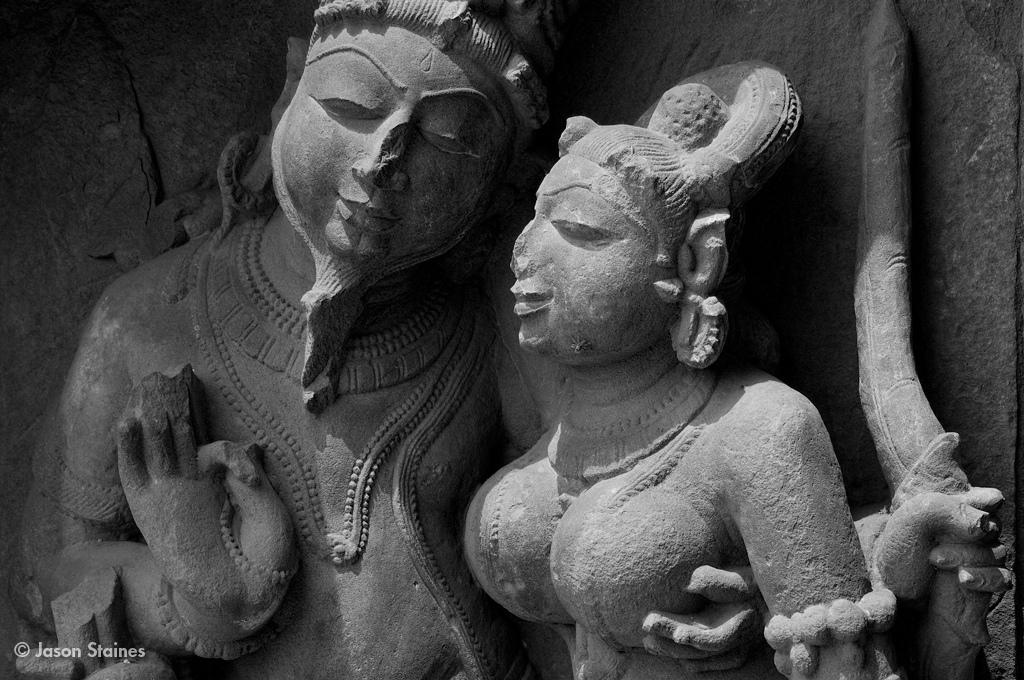 A temple couple.